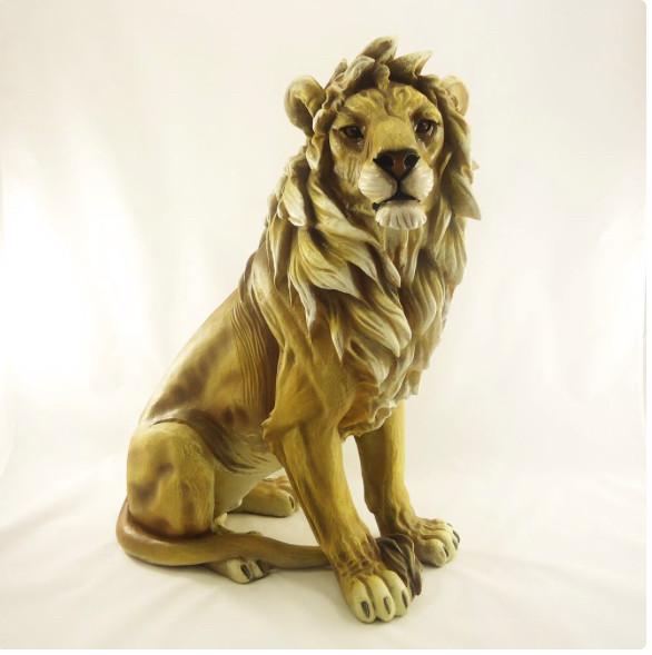 Лев напольный большой 66*48 см декоративная фигура из полистоуна
