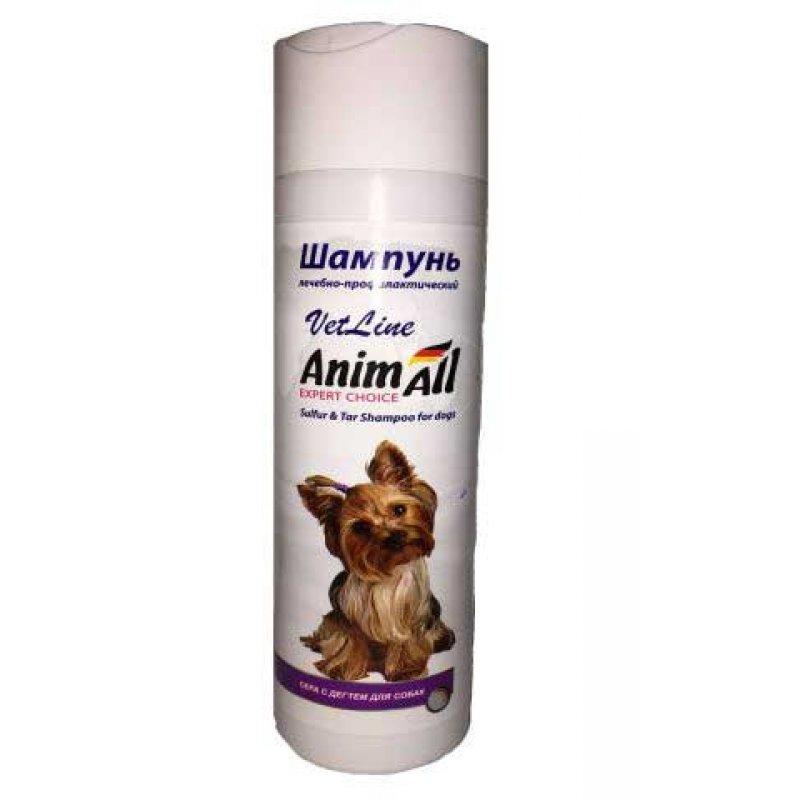 АНИМАЛ AnimAll VetLine шампунь с серой и дегтем для собак, 250 мл