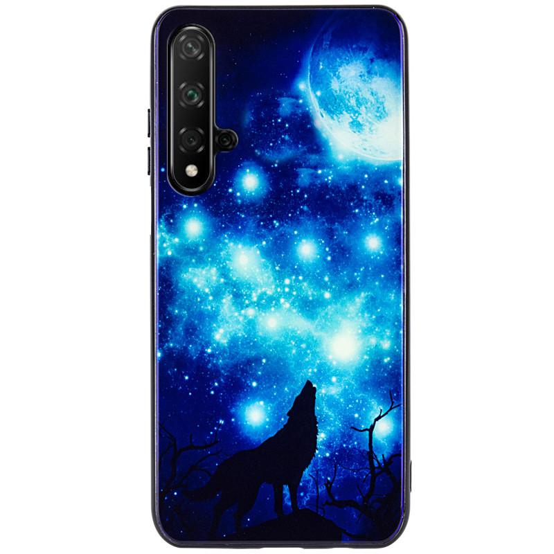 TPU+Glass чохол Fantasy з глянцевими торцями для Huawei Honor 20 / Nova 5T Цвітіння Місячна ніч