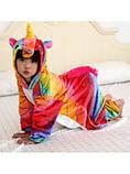 Тепла махрова піжамка дитяча, фото 2