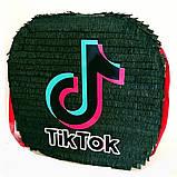 Піньята TikTok тік ток Tik Tok тикток піньята піната кулю на день народження куля обхват 110 см, фото 6