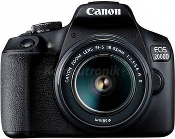 фотоаппарат Canon EOS 2000D + obiektyw EF-S 18-55 IS II