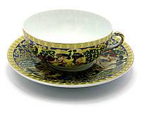 """Набор из китайского фарфора чашка и блюдце (150мл) """"Зеленая ива"""""""