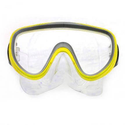 Маска Mask and Snorkel, желтый M109, фото 2
