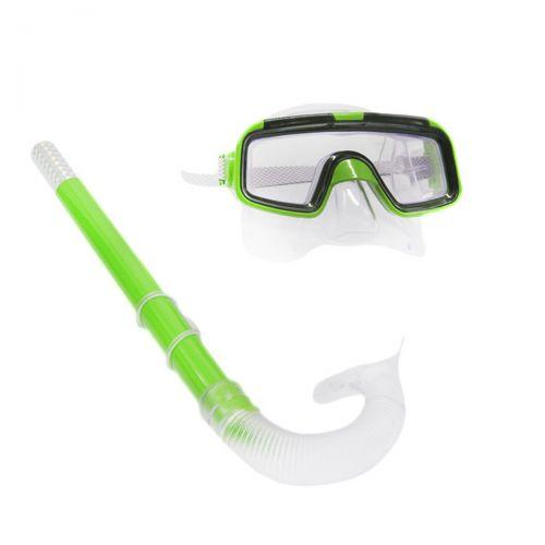 Набор для ныряния (маска, трубка) зеленый 108