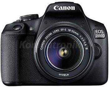 фотоаппарат Canon EOS 2000D + obiektyw EF-S 18-55 DC III