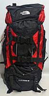 Туристический рюкзак The North Face Extreme на 80 литров красного цвета