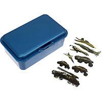 """Ланч бокс """"Economix"""" Snack 750мл. синій металік+серія наліпок Військова техніка №E98371"""