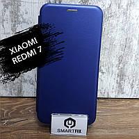Чехол книжка для Xiaomi Redmi 7 G-Case Синий