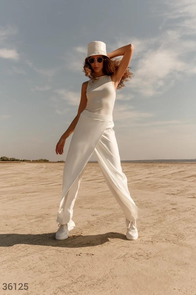 Белые брюки на запáх S,M,L,XL