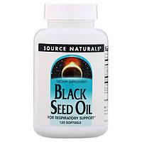 Source Naturals, масло черного тмина (120 капс.), black seed oil