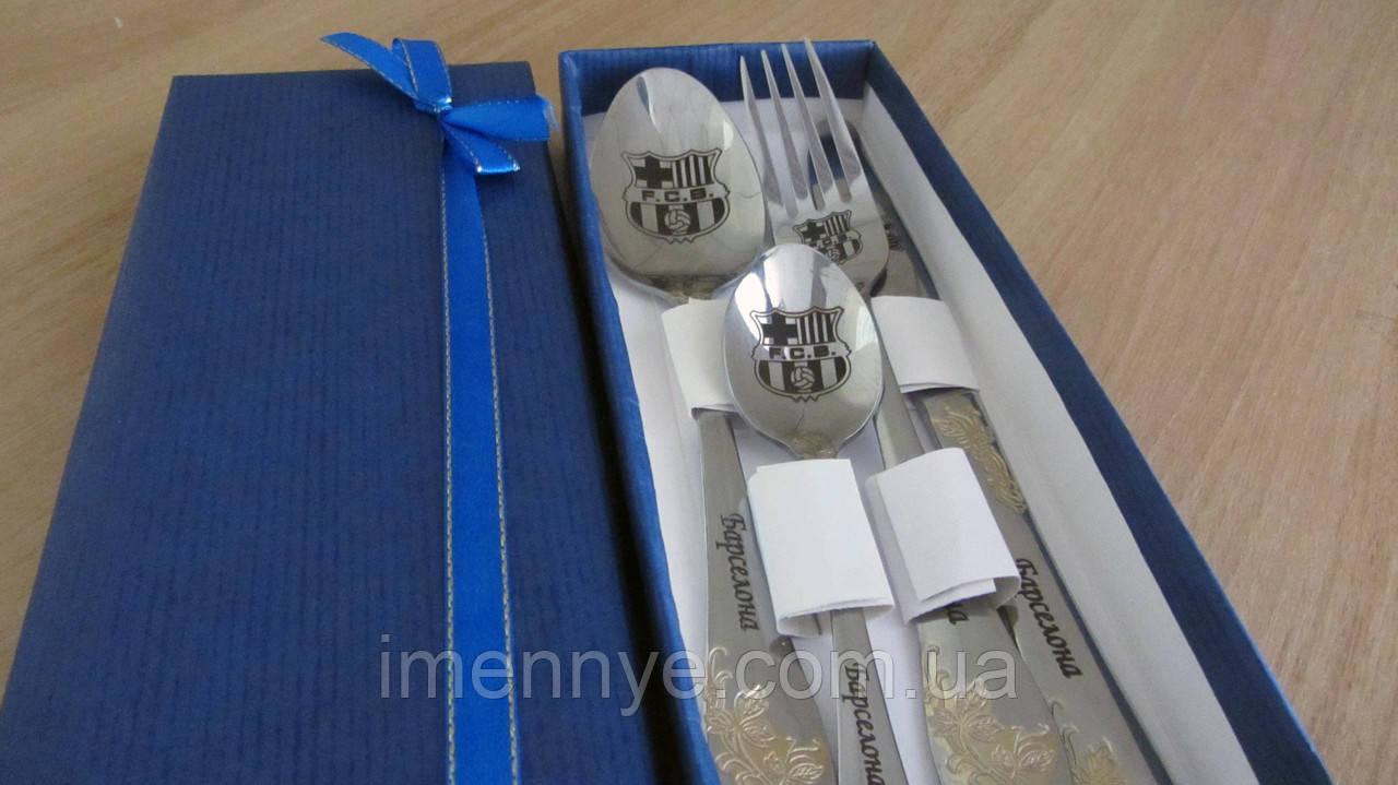 Подарочный набор ложек с гравировкой Барселона