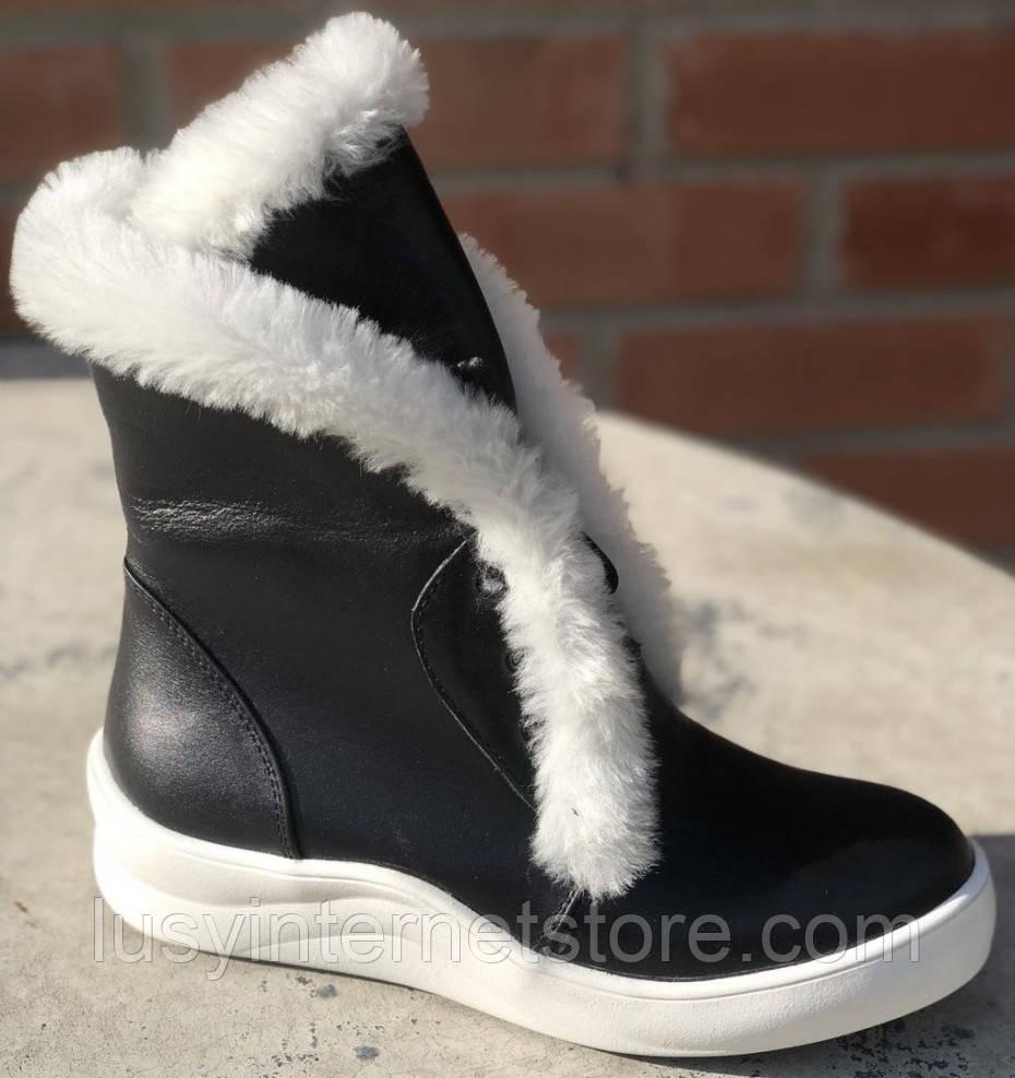 Ботинки с мехом женские зимние кожаные от производителя модель Ф119