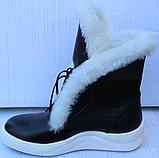 Ботинки с мехом женские зимние кожаные от производителя модель Ф119, фото 7