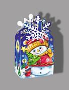 Упаковка для сладких новогодних подарков оптом на вес 300г, от 1 ящика
