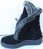 Ботинки женские зимние замшевые от производителя модель Ф118, фото 3