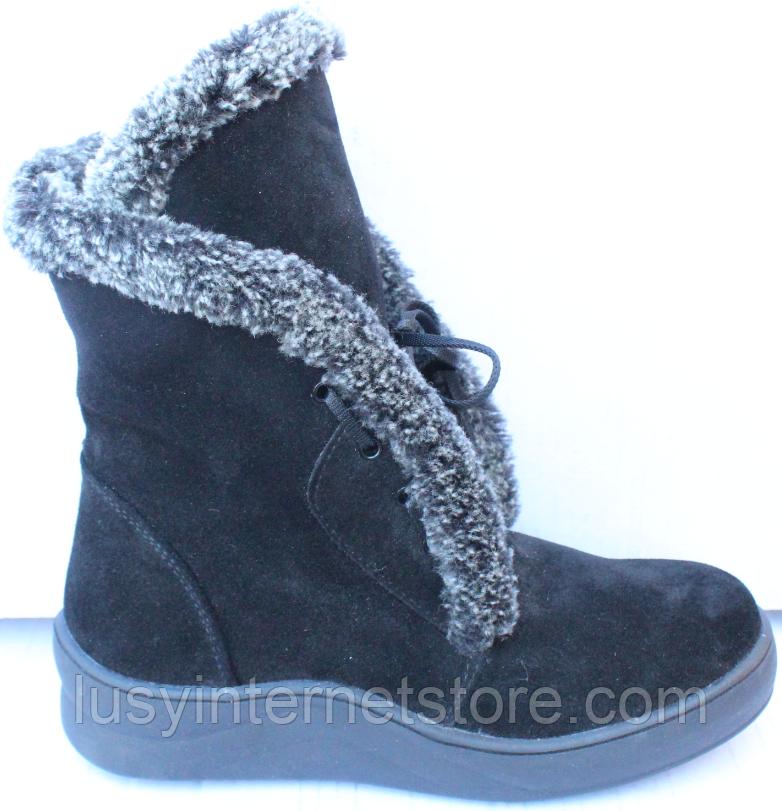 Ботинки женские зимние замшевые от производителя модель Ф118