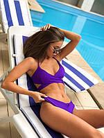 Купальник с двухсторонними плавками черный фиолетовый