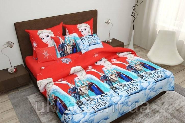 Детское постельное белье полуторное Фрозен