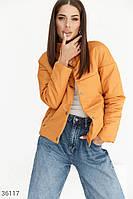 Горчичная стеганая куртка S,M,L,2XL,4XL,6XL,8XL