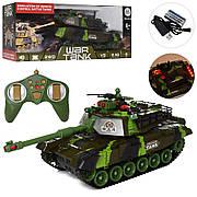 Игрушечный танк на радиоуправлении WAR TANK NO на аккумуляторе со звуком и светом 0139