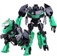 Робот трансформер интерактивная развивающая игрушка для мальчиков J8018B Гримлок, Тобот, динозавр