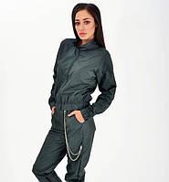 Легкий спортивный костюм женский зеленого цвета. Спортивная одежда. Жіночий спортивний костюм, одяг. Летний.