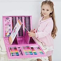 ✅ Детский набор для рисования UTM в чемодане с Мольбертом (208 предметов) | Дитячий набір для малювання