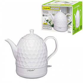 Чайник электрический Maestro White керамический 1,2 литра (MR-072)