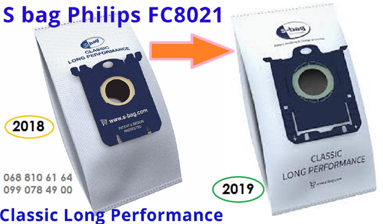 Одноразовые мешки оригинал S Bag Philips FC8021 03 пылесборники для пылесосов FC 9073, FC 9071, FC9170, FC8655, фото 1
