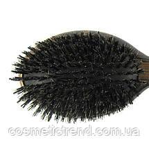 Щетка для волос массажная деревянная с натуральной щетиной Salon Professional 7763 FM, фото 3