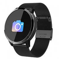 Умные Смарт часы Smart Watch PRO Q8 Круглый Original С Тонометром Черные Сталь