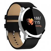 Умный Смарт часы Smart Watch PRO Q8 Круглый Original С Тонометром Серебристо-Черный