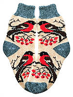 Носки  из ангоры  вязаные