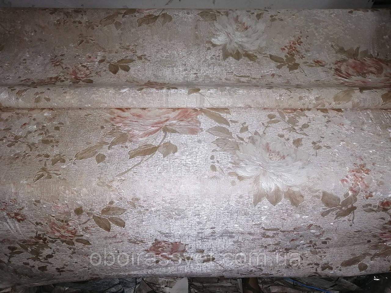Обои Живопись 8610-01 винил горячего тиснения на флизелине,длина 15 м,ширина 1.06 = 5 полос по 3 м каждая