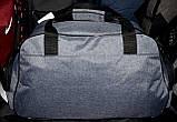 Спортивная дорожная малая темно-серая сумка 50*32 см, разные накатки, фото 3