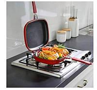 Двойная сковородка-гриль GRANT PRO Double grill PAN 36 см сковорода 2в1
