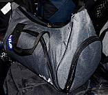 Спортивная дорожная малая синяя сумка 42*33 см, разные накатки, фото 2