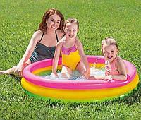 Intex Десткий Бассейн Радуга размером 86х25см, объём:51л, вес: 0,55кг, от 1 до 3 лет