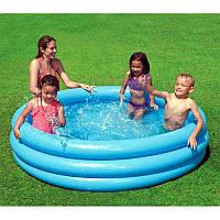 Детский бассейн надувной для дома и дачи Intex Кристалл 114 x 114 см, 173 л