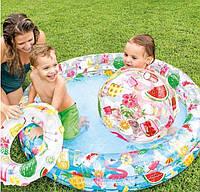 Надувной бассейн Intex Фрукты на 134 литров