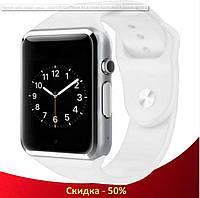 Умные часы смарт часы - Smart Watch Phone A1 в стиле Apple Watch Белые
