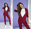 Повседневный офисный костюм женский бордовый (4 цвета) ТК/-6060