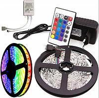 Светодиодная лента RGB 3028 300 LED комплект 5м с пультом и блоком питания