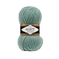 Пряжа Alize LanaGold Classic 100гр - 240м (386 Бирюзовый), 51% акрил, 49% шерсть, Турция