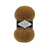 Пряжа Alize LanaGold Classic 100гр - 240м (499 Коричневый), 51% акрил, 49% шерсть, Турция