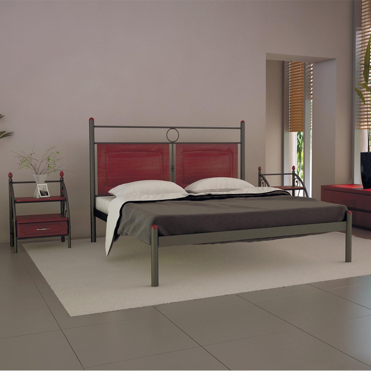 Кровать металлическая односпальная Николь