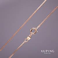 Цепочка Xuping плетение Квадрат L-40см s-1,2мм цвет золото