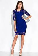 Элегантное женское платье 120PO1012 (Электрик)