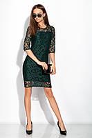 Элегантное женское платье 120PO1012 (Изумрудный)